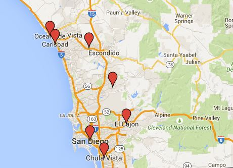 San Diego Promotional Products Supplier Map